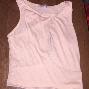 Crop top with cut out on the chest